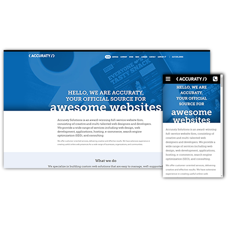 Accuraty Solutions Website